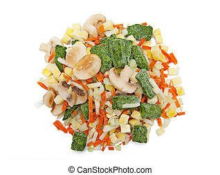 Frozen vegetables isolated