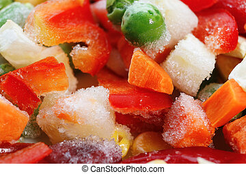 Frozen vegetables. Mexican mix. Macro. 6