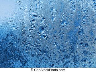 frozen water drops on window