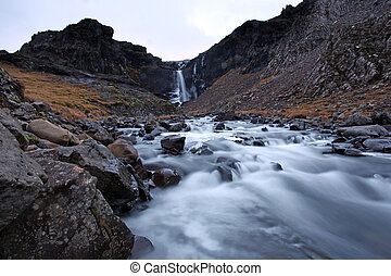 Frozen Waterfall south east iceland