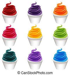 Frozen Yogurt Dessert - An image of a frozen yogurt dessert.