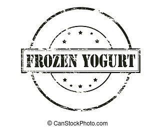 Frozen yogurt - Rubber stamp with text frozen yogurt inside...