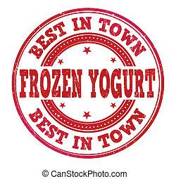 Frozen yogurt stamp