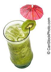 fruechte, cocktail., traditionelle , kaltes getränk, in, der, summer.
