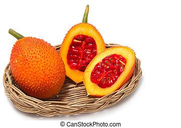 fruechte, lieb, grourd, cochinchin, kã¼rbis, gac, jackfruit...