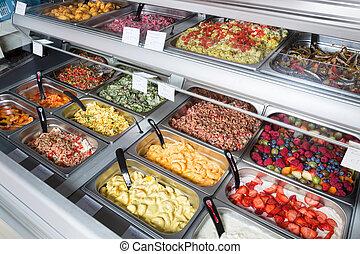 fruechte, und, gemüse, salate, verkauf