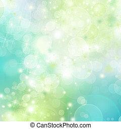 fruehjahr, abstrakt, hintergrund, mit, bokeh