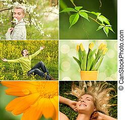 fruehjahr, collage