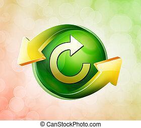 fruehjahr, grün, behalf, ikone
