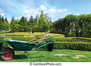 fruehjahr, grün, kleingarten