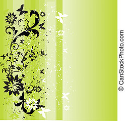 fruehjahr, hintergrund, grün