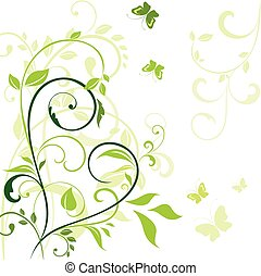 fruehjahr, umrandungen, grün
