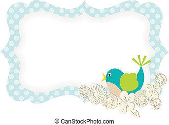 fruehjahr, vogel, geschenkpreisschild