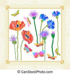 fruehjahr, wildflowers, garden.