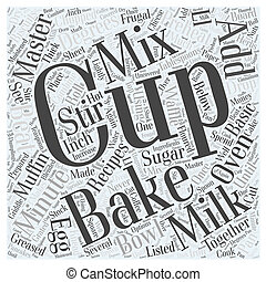 Frugal Recipes Using a Basic Baking Mix Word Cloud Concept