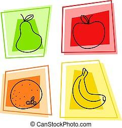 frugt, iconerne