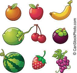 frugt, sæt