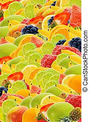 fruit été, fond