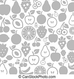 Fruit a background - Background made of fruit. A vector...