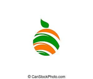 Fruit Abstract Logo Design Element