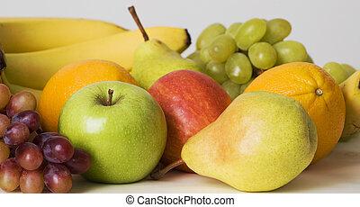 Fruit abundance - an array of fruit for healthy eating