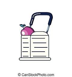 fruit, achats, pomme, charrette
