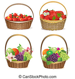 fruit and berry baskets
