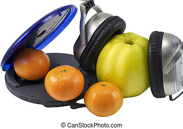 Fruit and CD Player