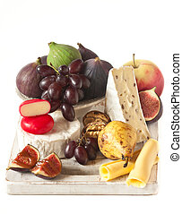 Fruit and cheese.