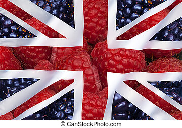 Fruit and Flag of the United Kingdom