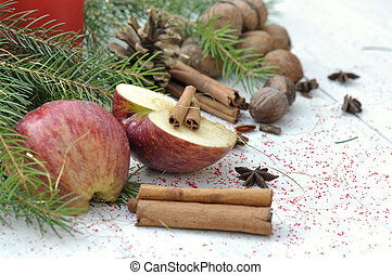 fruit and spices for dessert