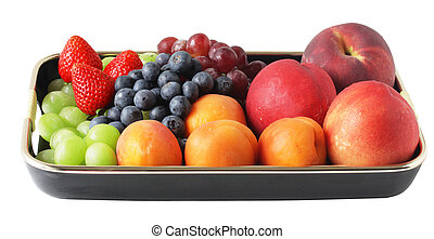 Fruit and tray