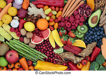 Fruit and Vegetable Health Food Background