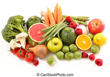 fruit and vegetable, low calorie concept