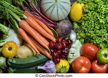 Fruit and vegetable , studio shoot on table