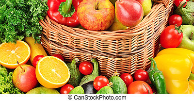 fruit and vegetables background