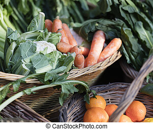 fruit and vegetables in the basket