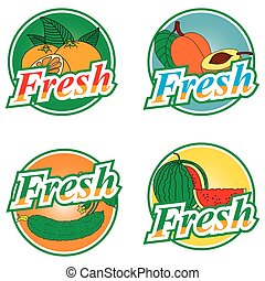 Fruit and vegetables labels