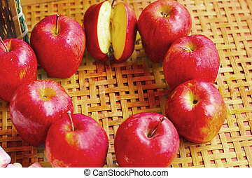 Fruit apple red.
