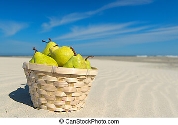Fruit at the beach