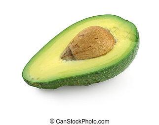 fruit, avocado, helft