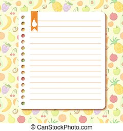 Fruit background with space for text