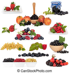 fruit, baie, collection