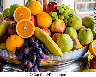 fruit basket - basket of fresh fruit and vegetables