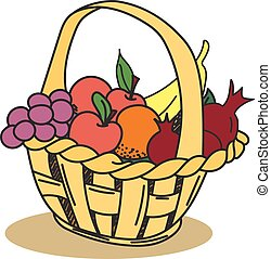 Hand Drawn Fruit Basket Stock Photos And Images 362 Hand Drawn