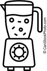 Fruit blender icon, outline style