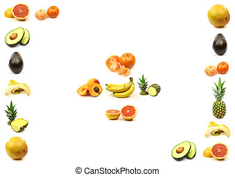 fruit border with room for text