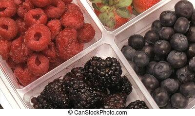 Fruit bowl with fruit rotating