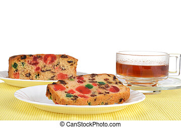fruit cake on a plate