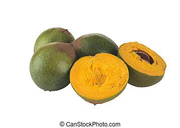 Fruit called Lucuma (lat. Pouteria lucuma) grown in the ...